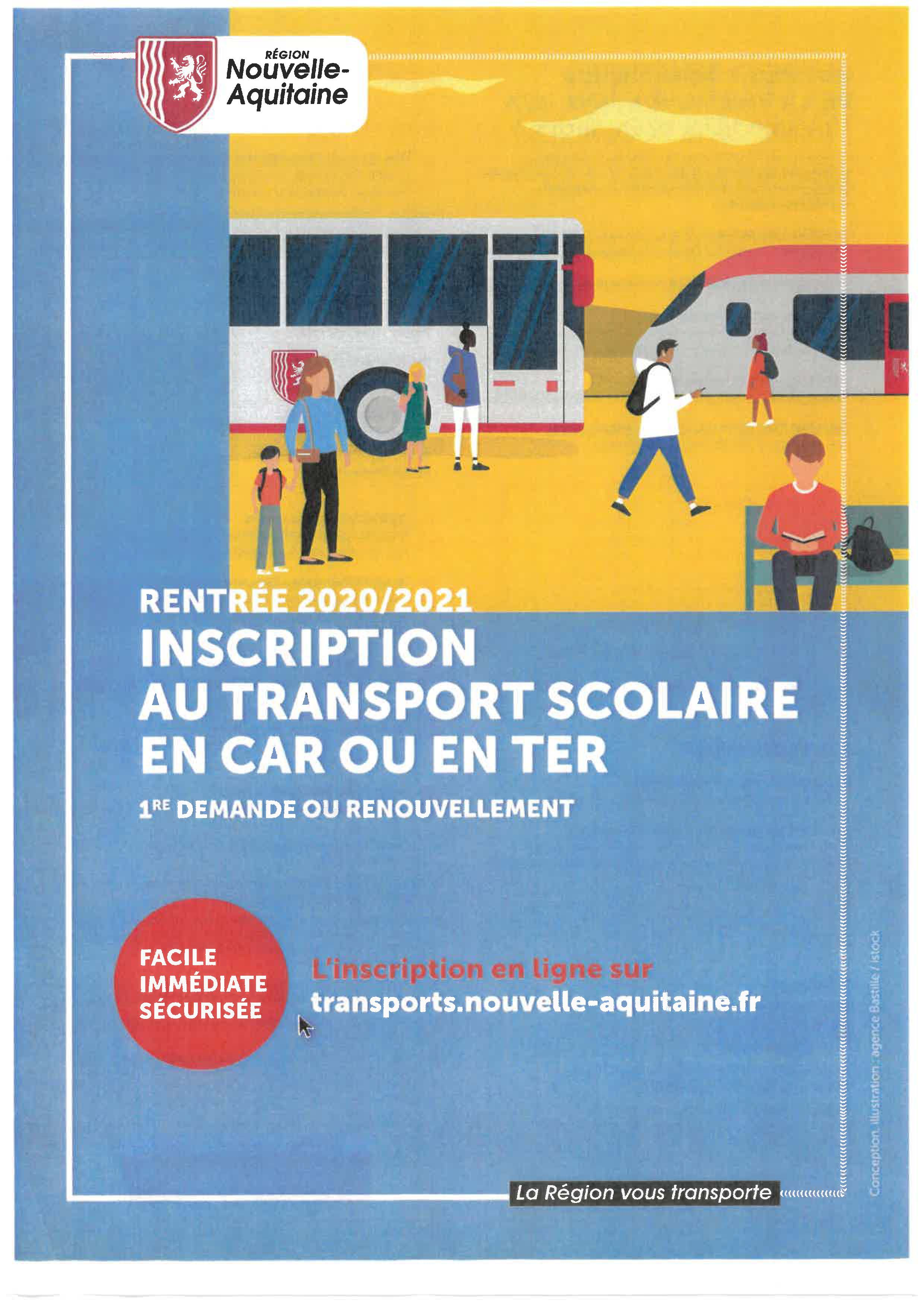 Plaquette Page 1 - Inscription Transport Scolaire 2020/2021